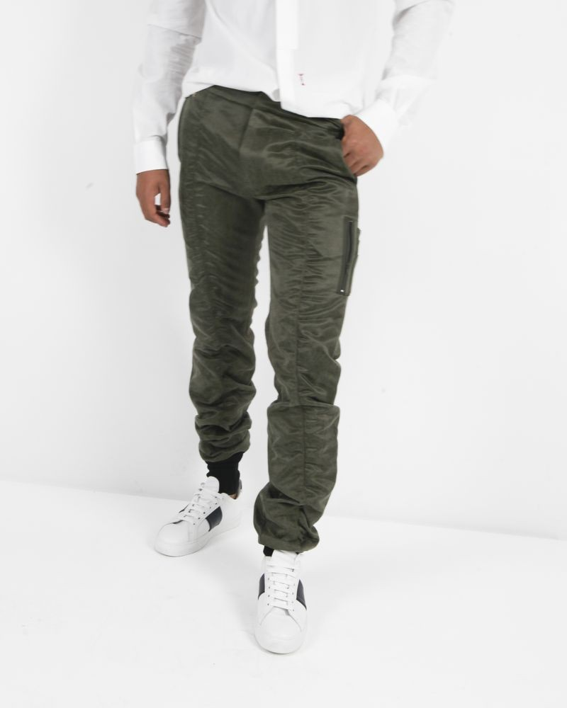 Pantalon kaki lumineux John Galliano