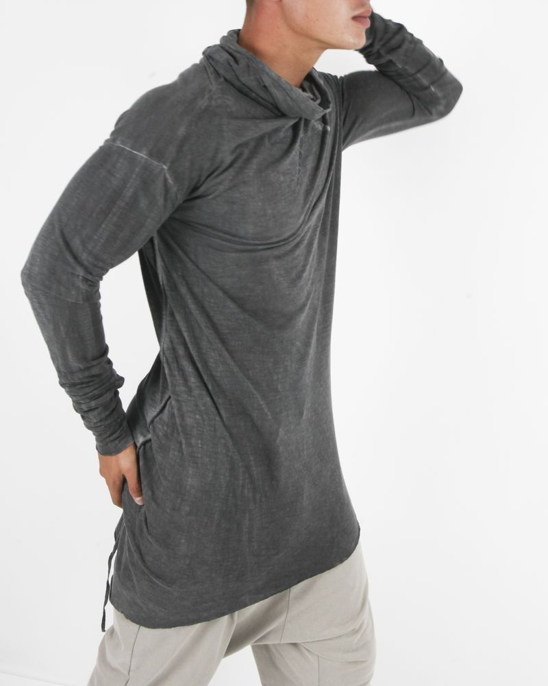 T-shirt long gris Lost & Found