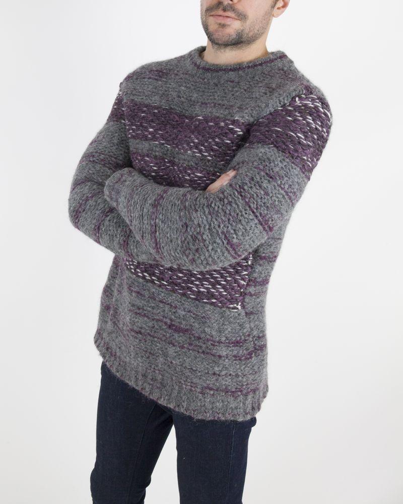 Pull en laine gris Frankie Morello