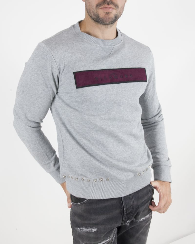 Sweat manches longues gris John Richmond