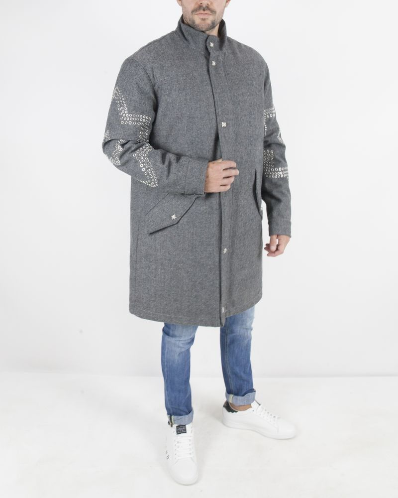 Manteau long gris John Richmond