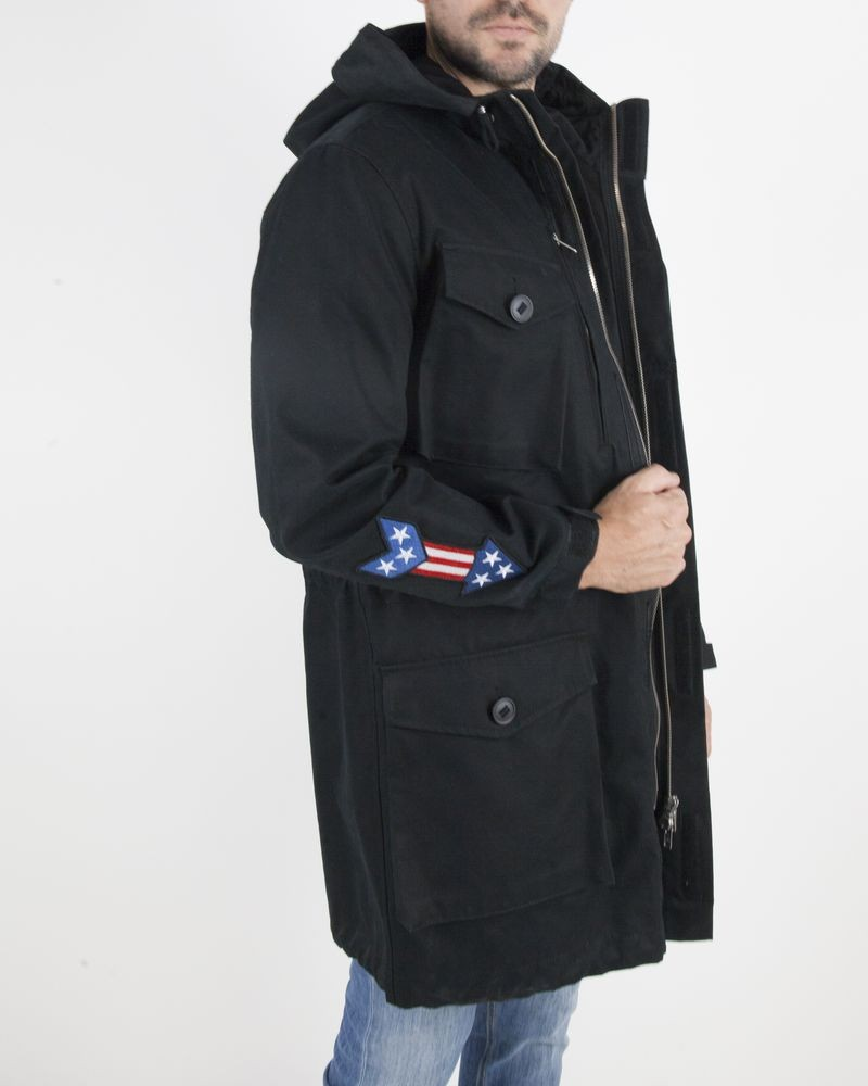 Manteau long noir Moschino