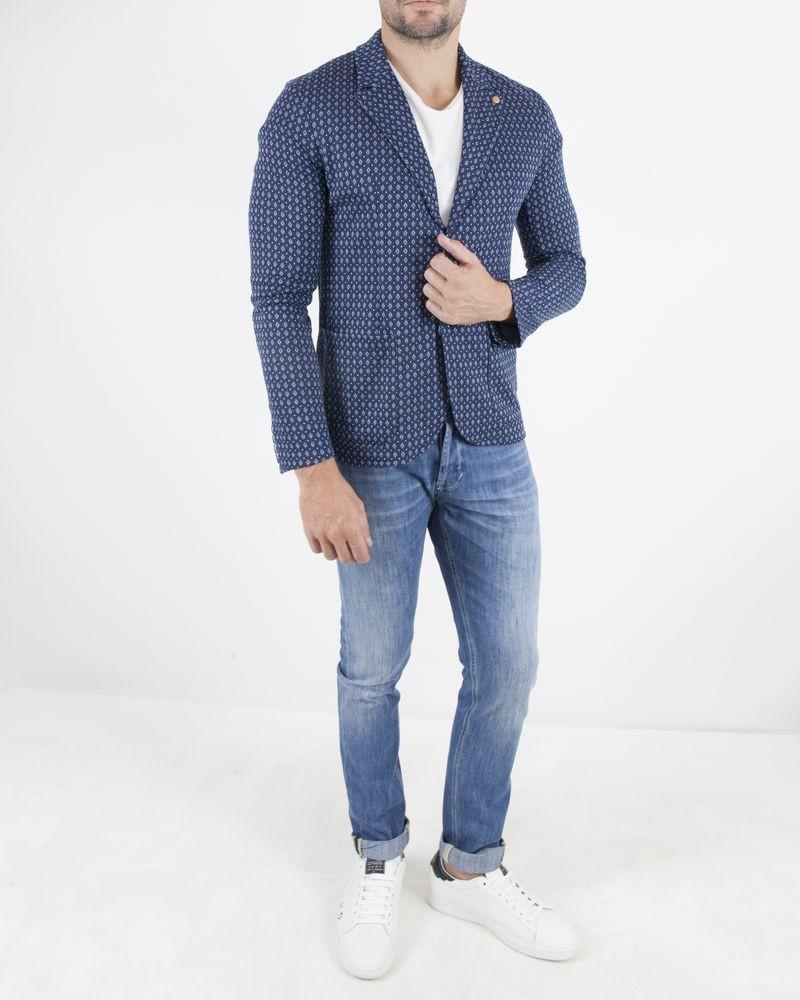 Veste à motifs bleu Woolgroup