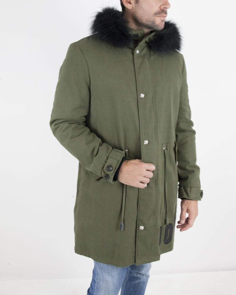 Manteau long kaki John Richmond