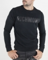 Sweat col rond noir John Richmond