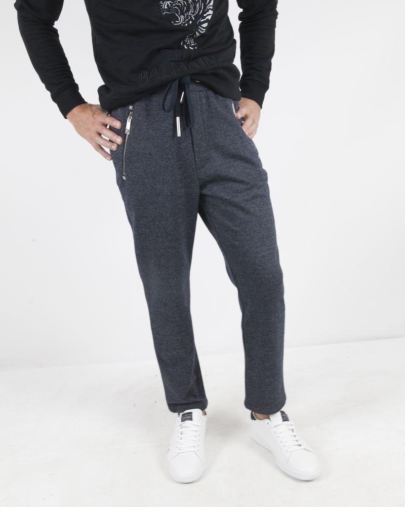 Pantalon de jogging bleu chiné John Richmond