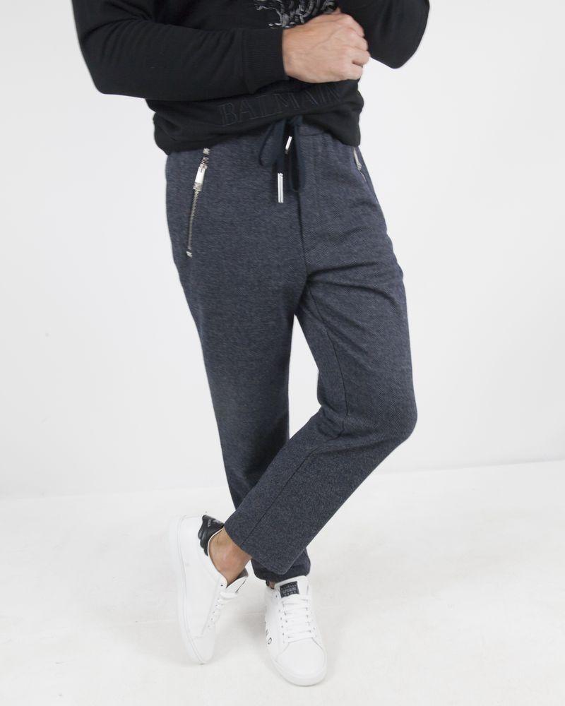 Jogging en laine grise à poche zippée John Richmond