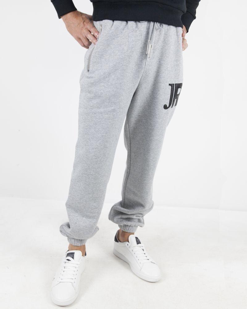 Jogging en coton gris à poche zippée John Richmond