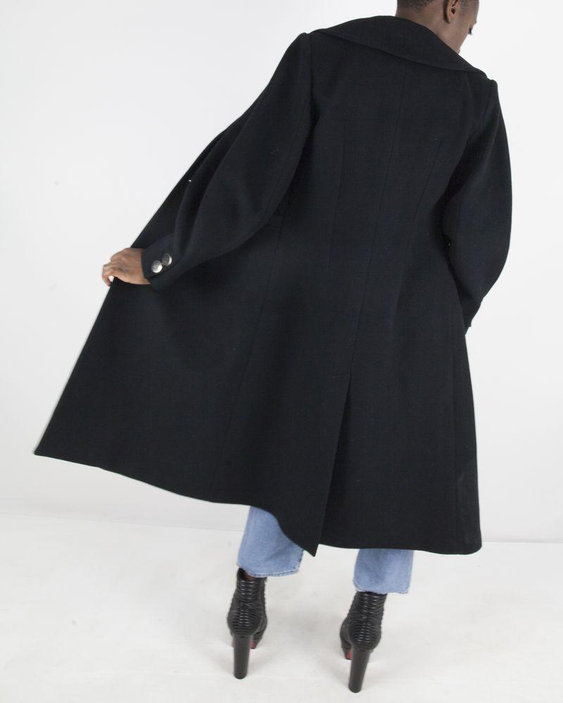noire en laine 875d949a41 space manteau boutons dorés à 34Acqj5RL
