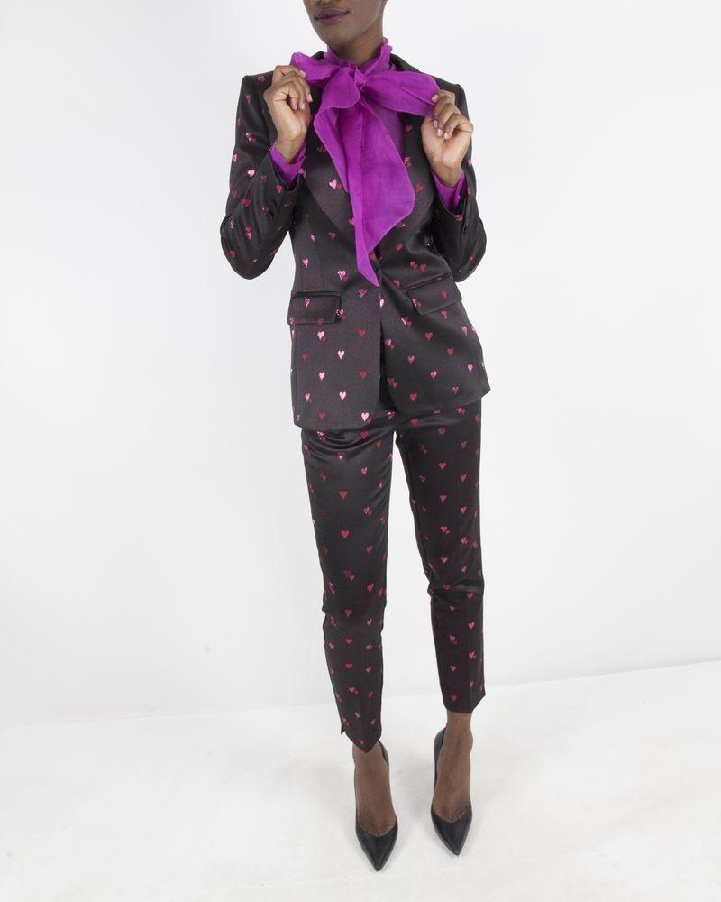 Pantalon à motifs noir Space Simona Corsellini