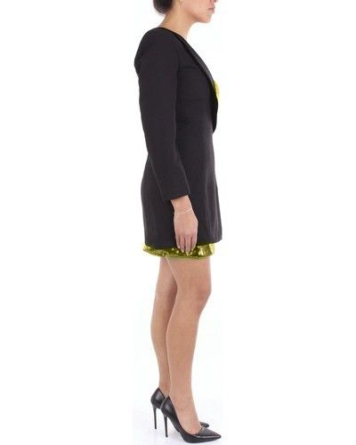 Robe smoking noir à sequins dorée Space Simona Corsellini