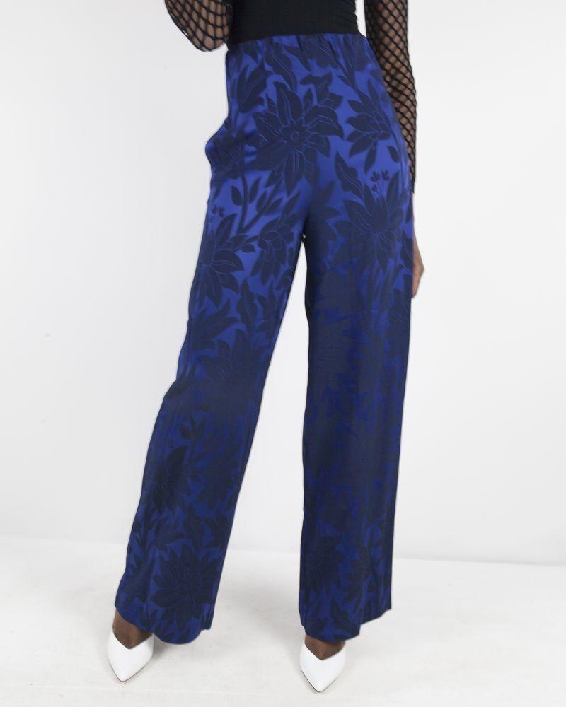 Jupe bleu à motifs fleuris Space Simona Corsellini