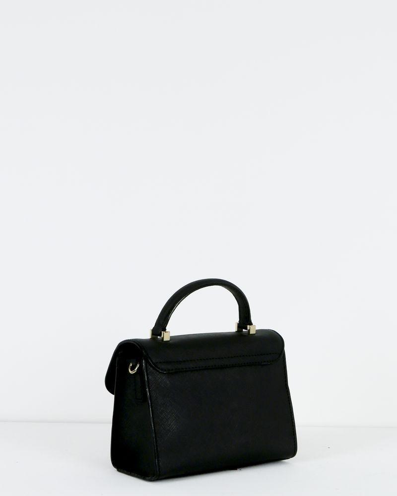 Petit sac à main trapèze en cuir noir Kate Spade