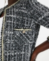 Manteau gris en tweed Edward Achour