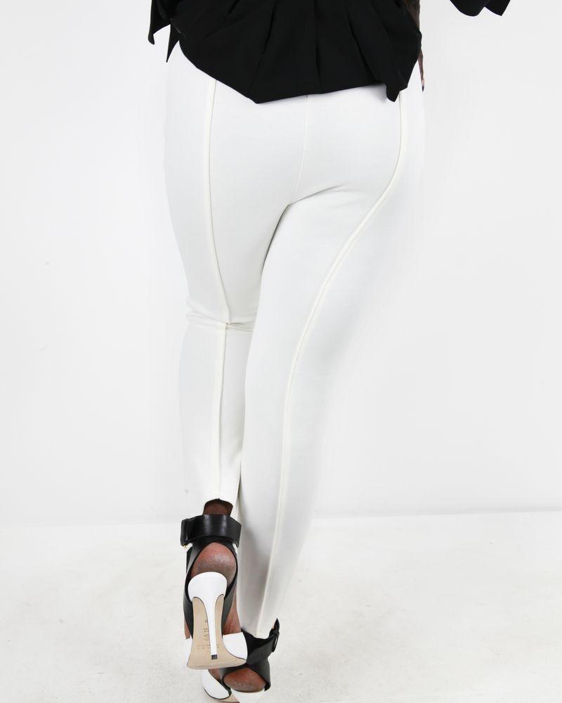 Pantalon fuseau blanc Space Simona Corsellini