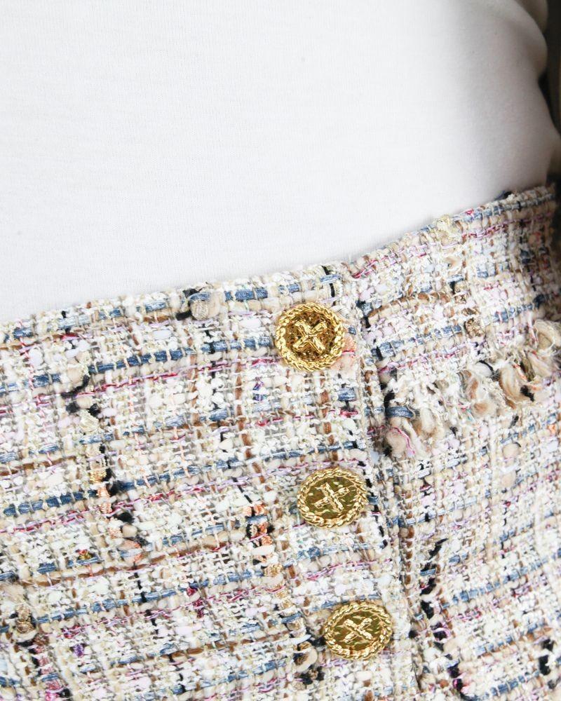 Short rose en tweed Edward Achour