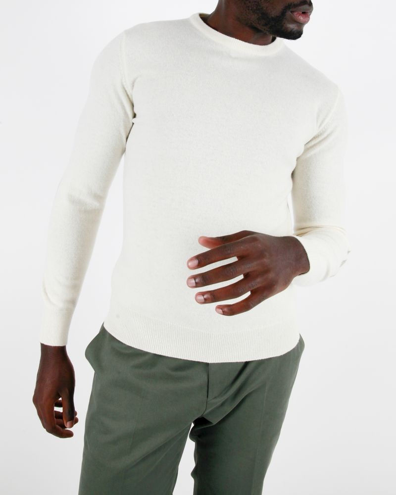 pull col rond beige avec coudieres Panicale