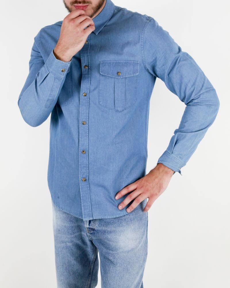 Chemise en coton bleue Edition M.R