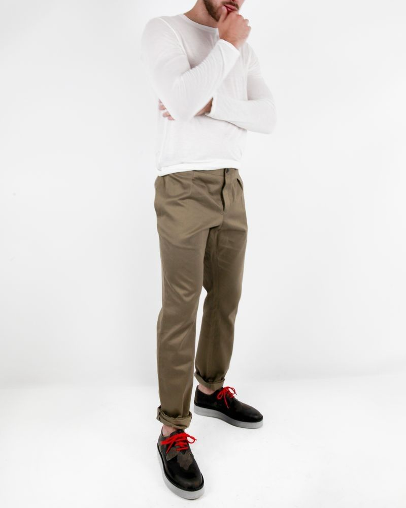 Pantalon taupe Marchand Drapier