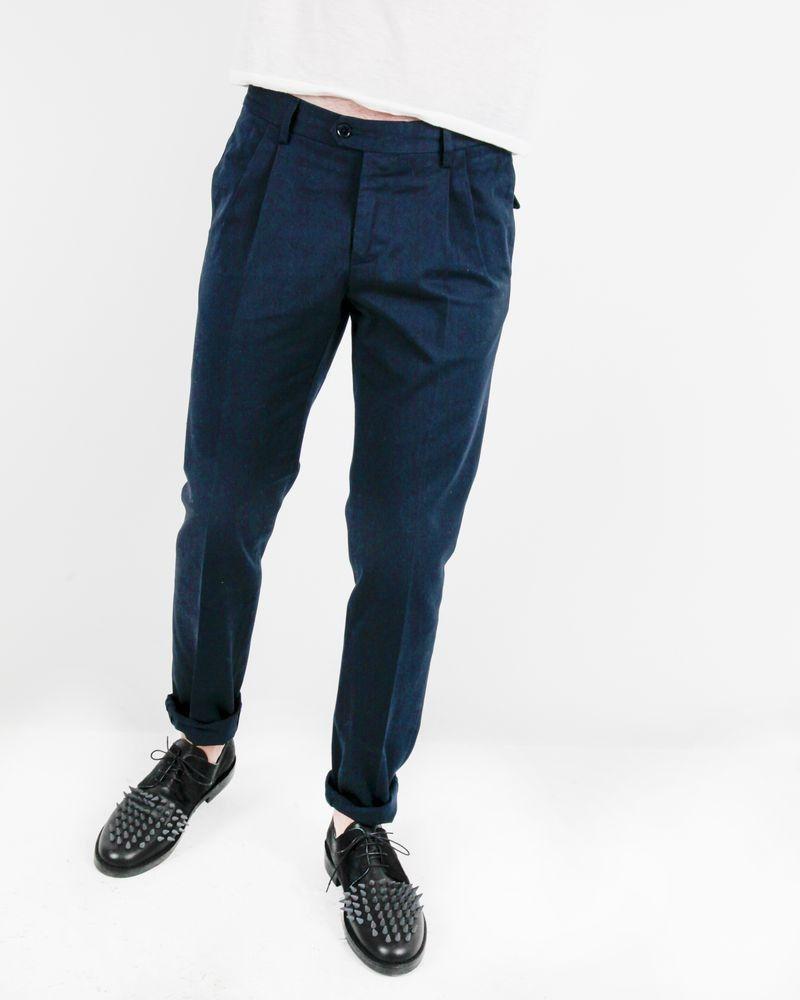 Pantalon à pinces bleu Roda