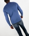 Pull manches longues bleu WOOLGROUP