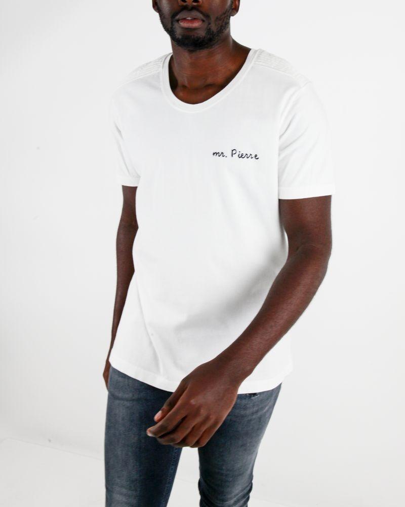 "T-Shirt ""Mr Pierre"" blanc Pierre Balmain"