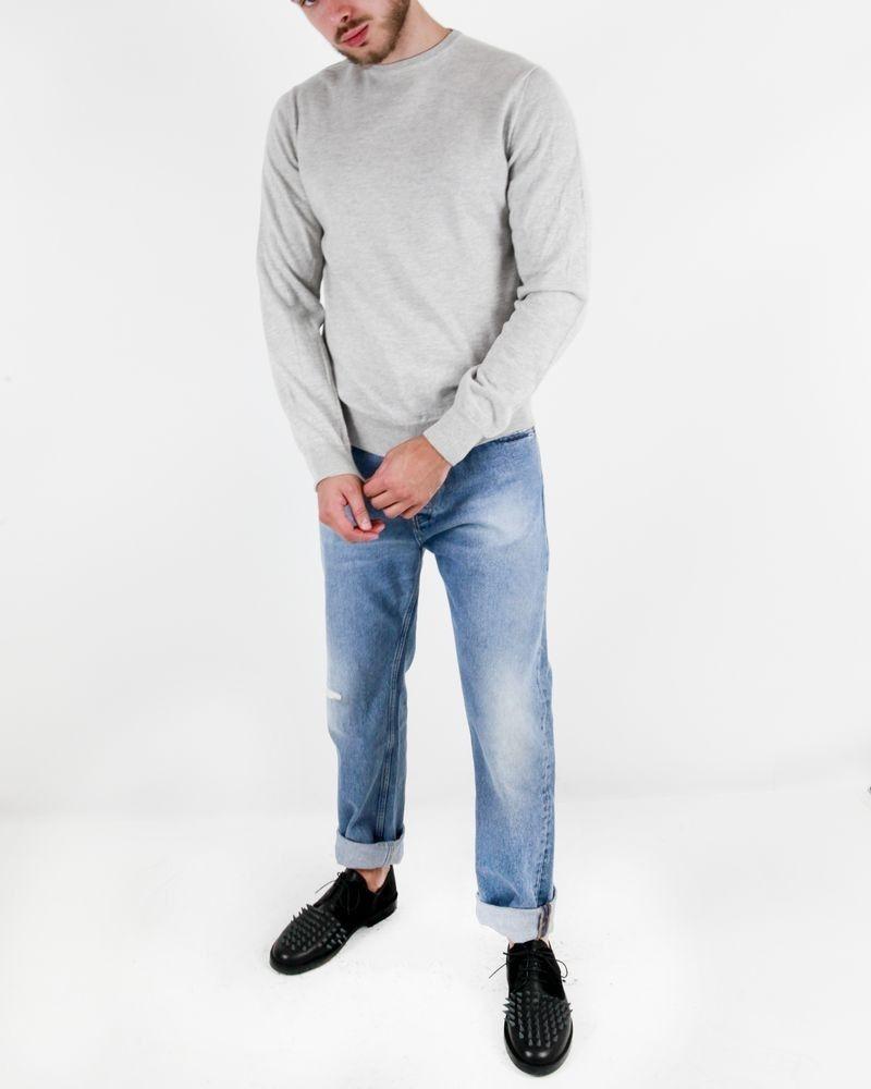 Pull gris en cachemire gris clair Fausto Reali Vannucci