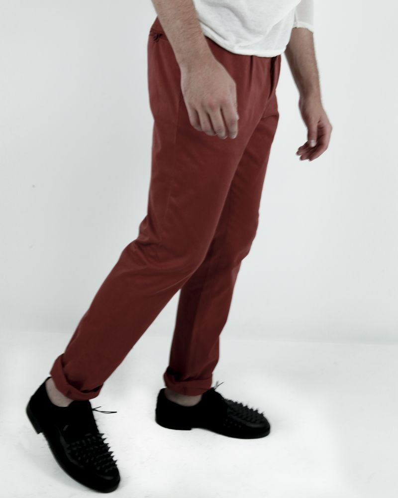Pantalon orange Luca Capri