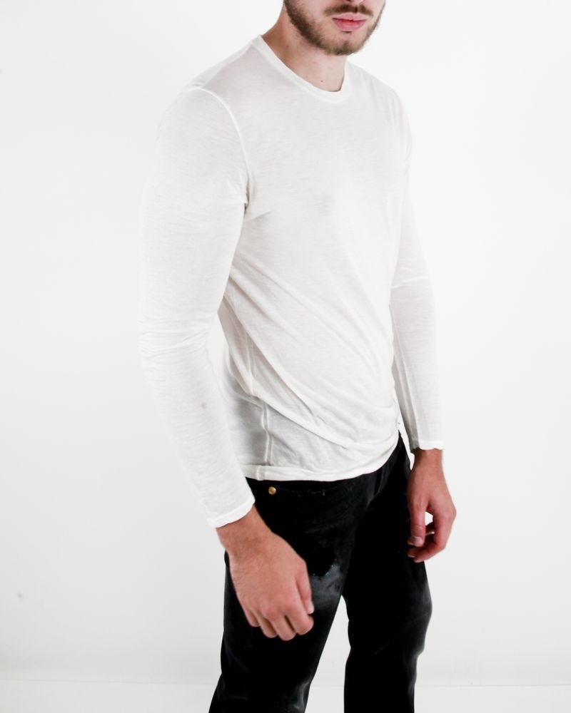 T-shirt manches longues blanc cassé FIESOLI