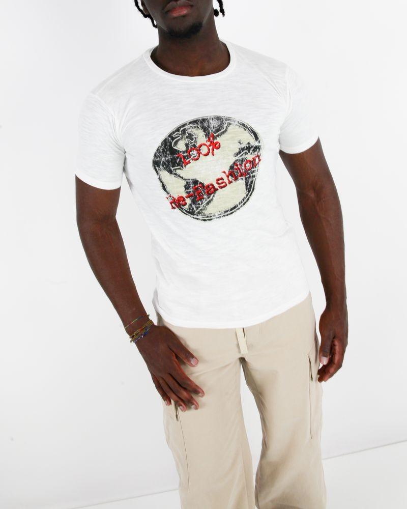 T-Shirt blanc en coton