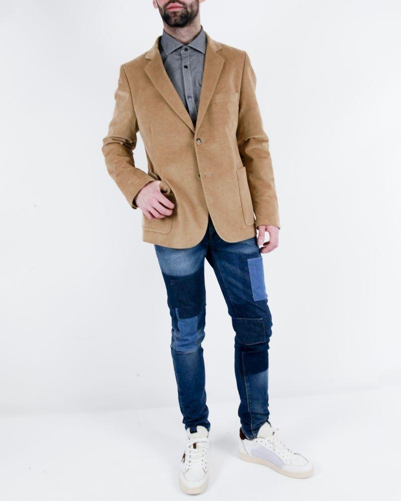 Veste en velours piqué camel Edition M.R