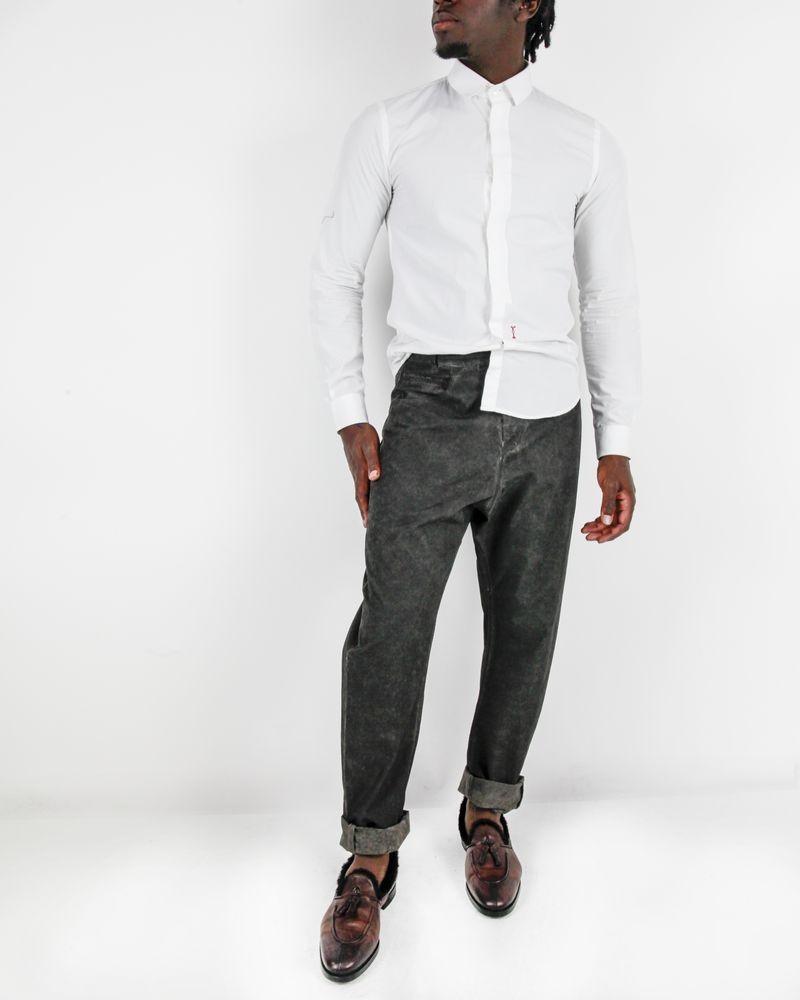 Pantalon en coton noir délavé Damir Doma