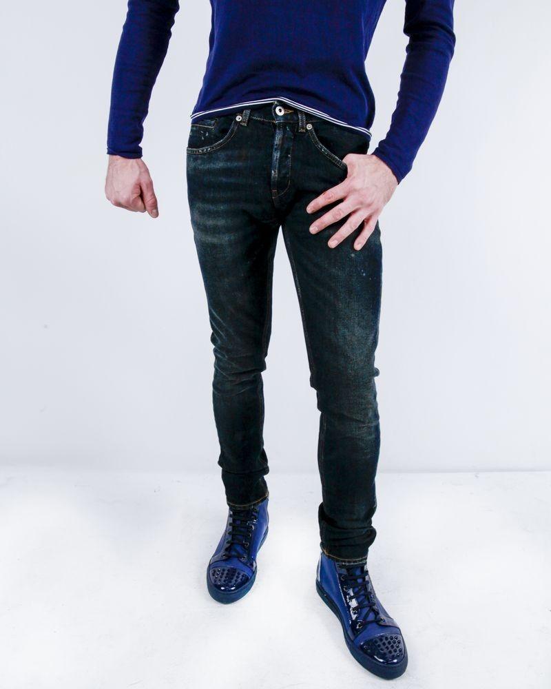 Jean skinny en coton bleu Dondup