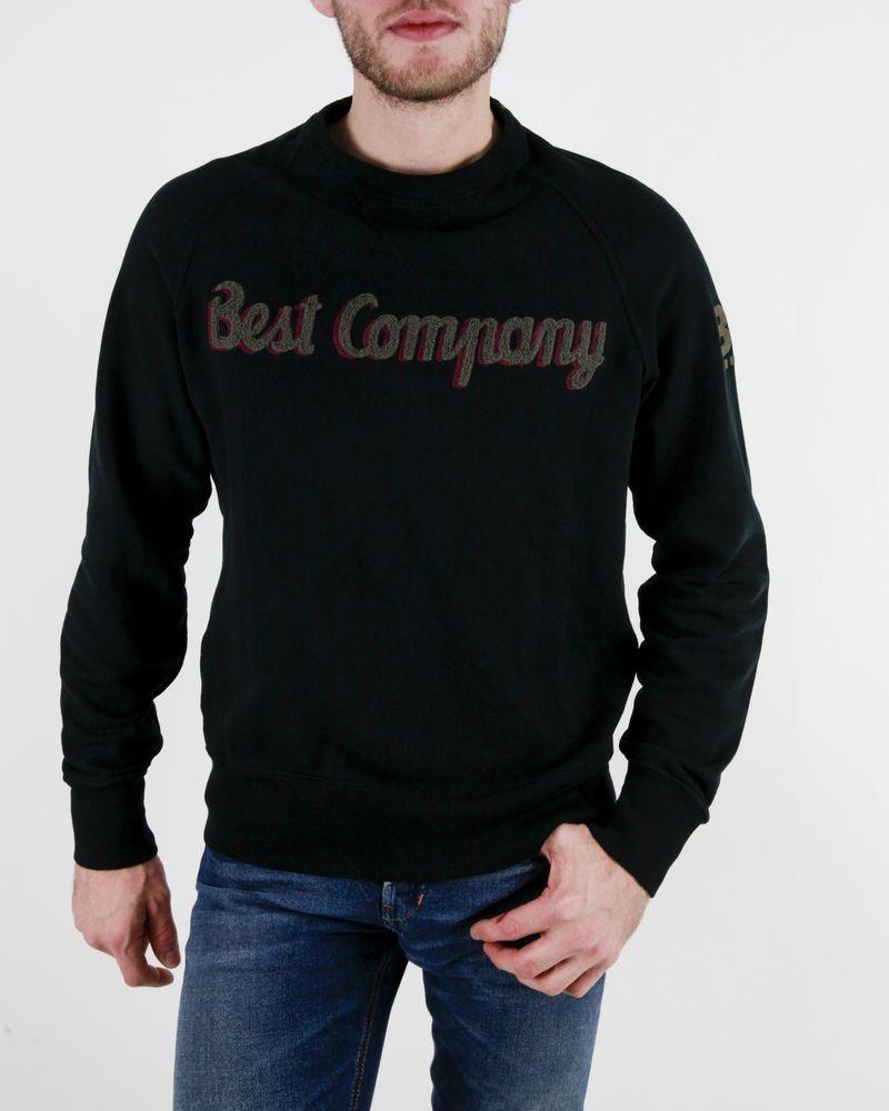 Sweat noir à logo bouclette Best Company