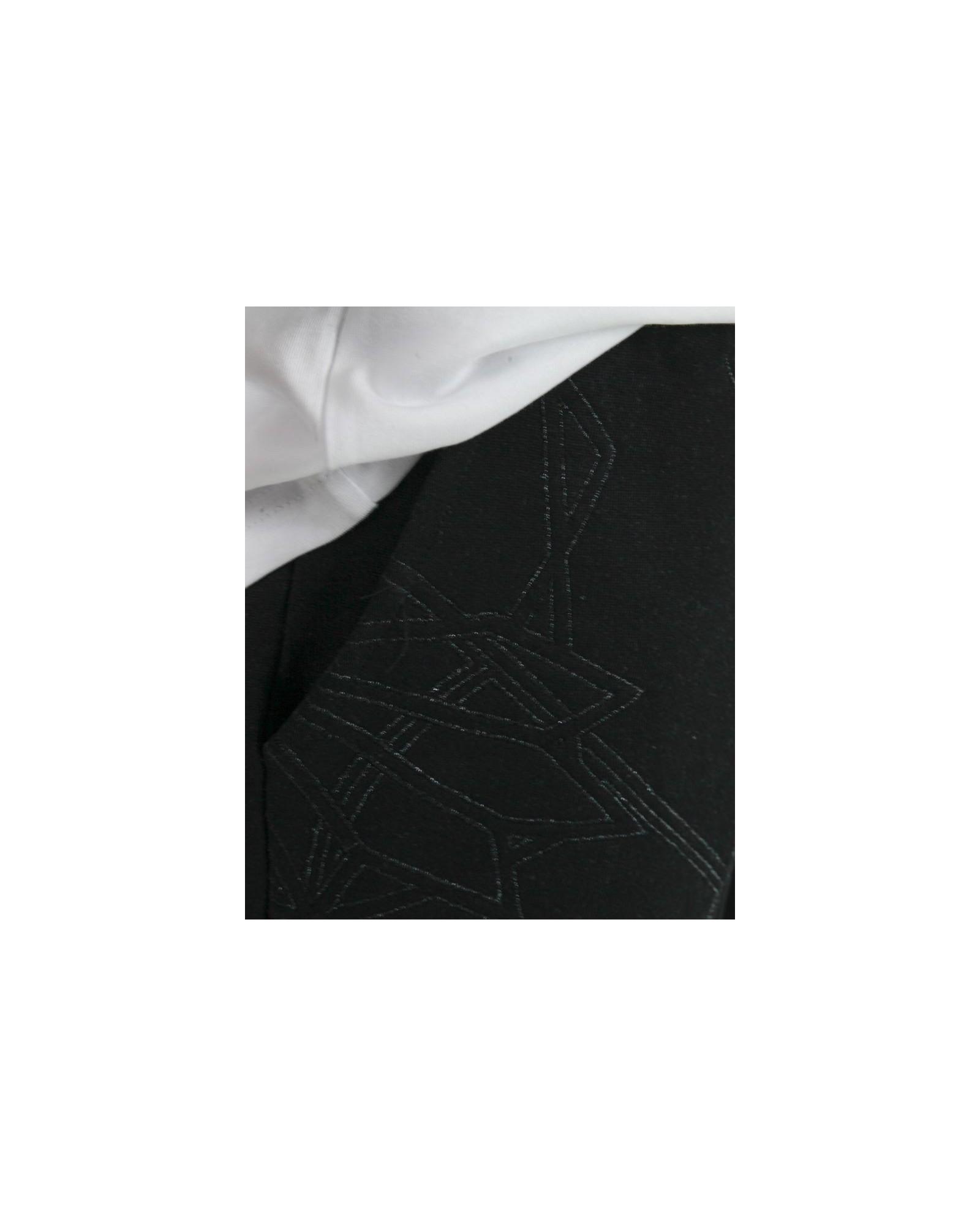 Short en coton noir à broderies fantaisies Les Hommes
