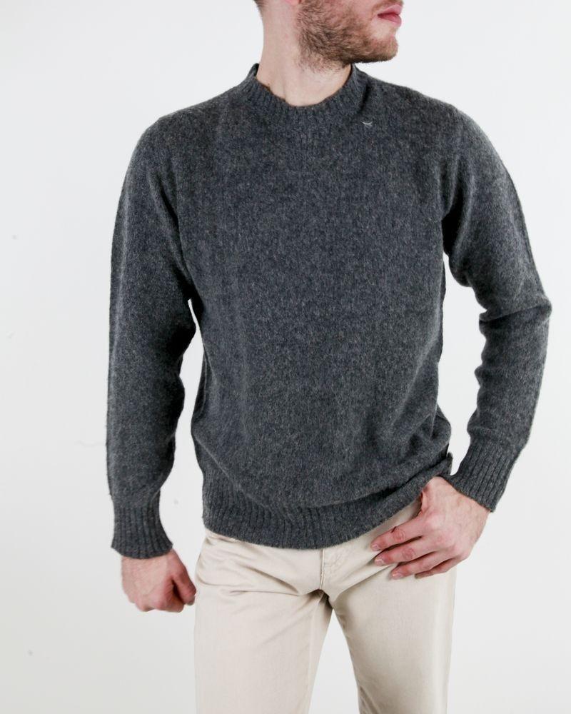 Pull en laine gris à col rond Soho