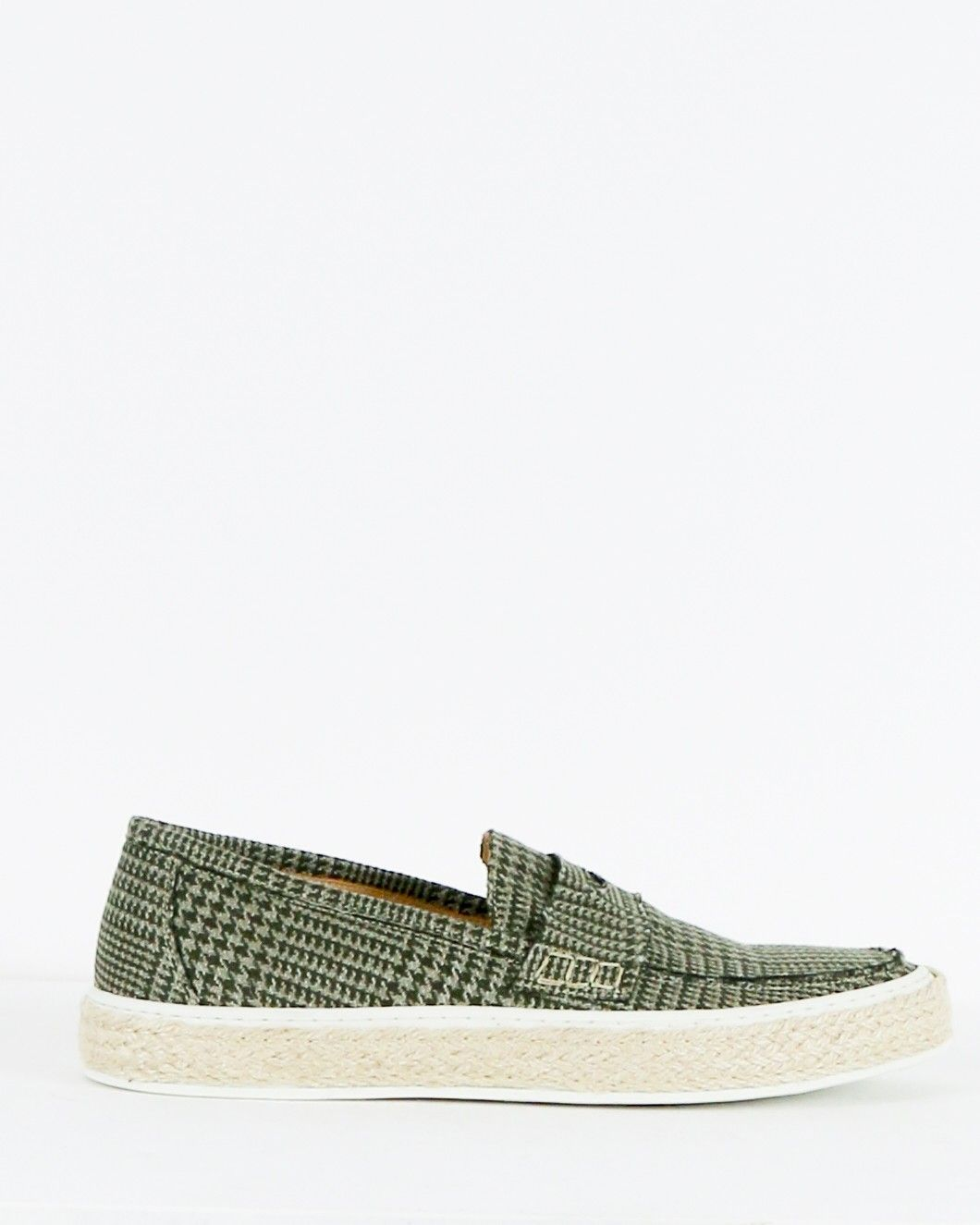 Slip on en tweed kaki Lardini