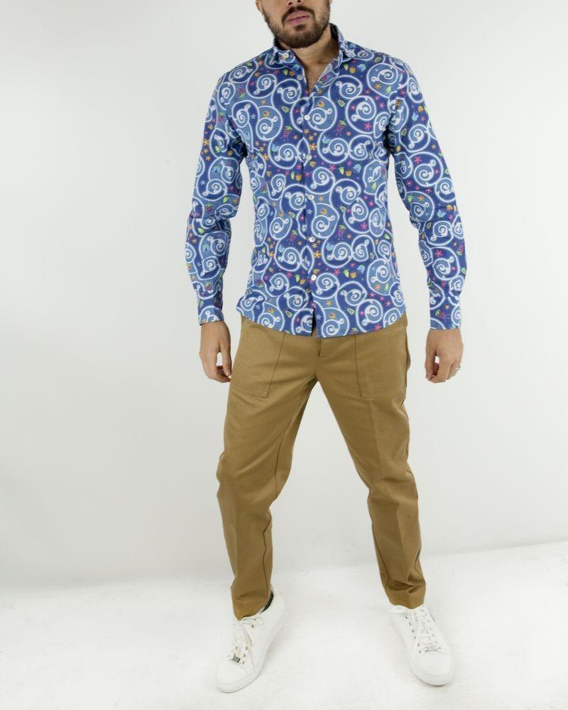 Chemise bleu fantaisie Vente spéciale chemises