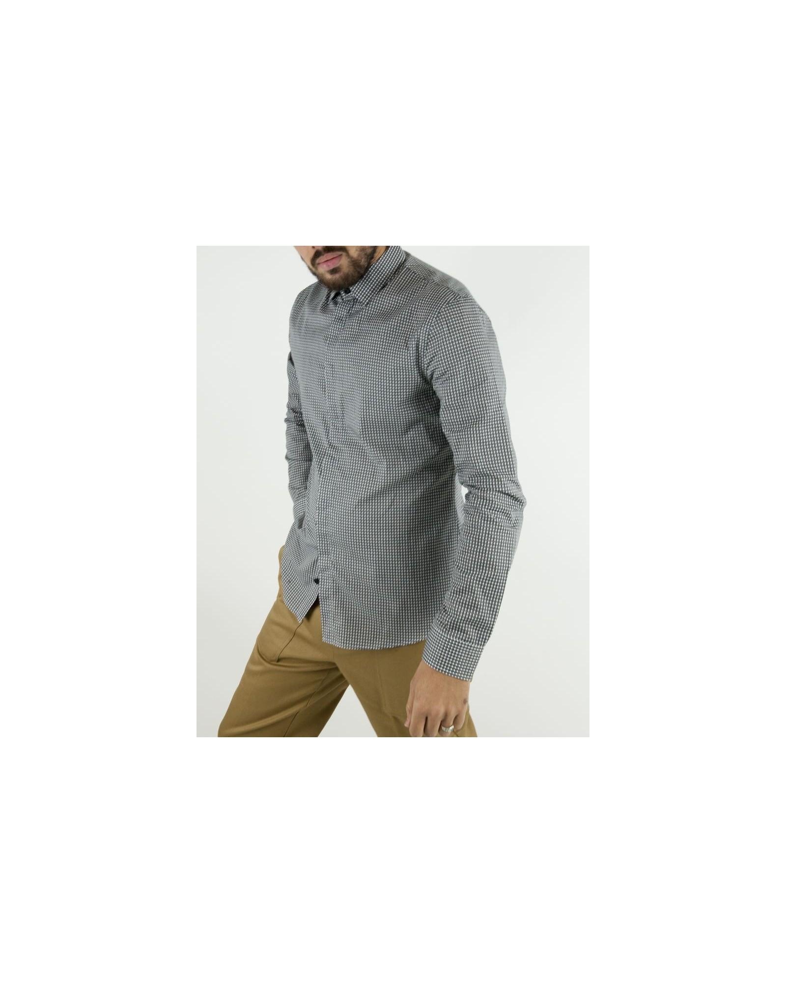 Chemise à carreaux noire et blanche Les Hommes