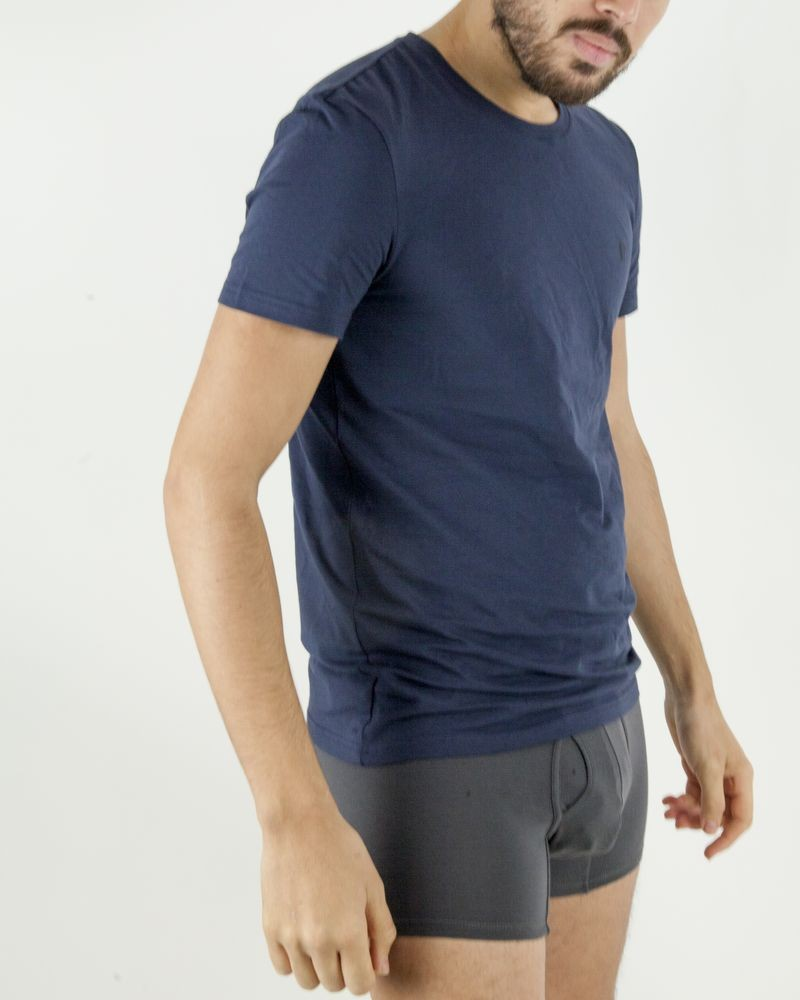 T-Shirt en modal bleu à manches courtes Ermenegildo Zegna