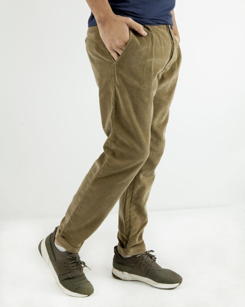 Pantalon en velours beige The Raj Of England