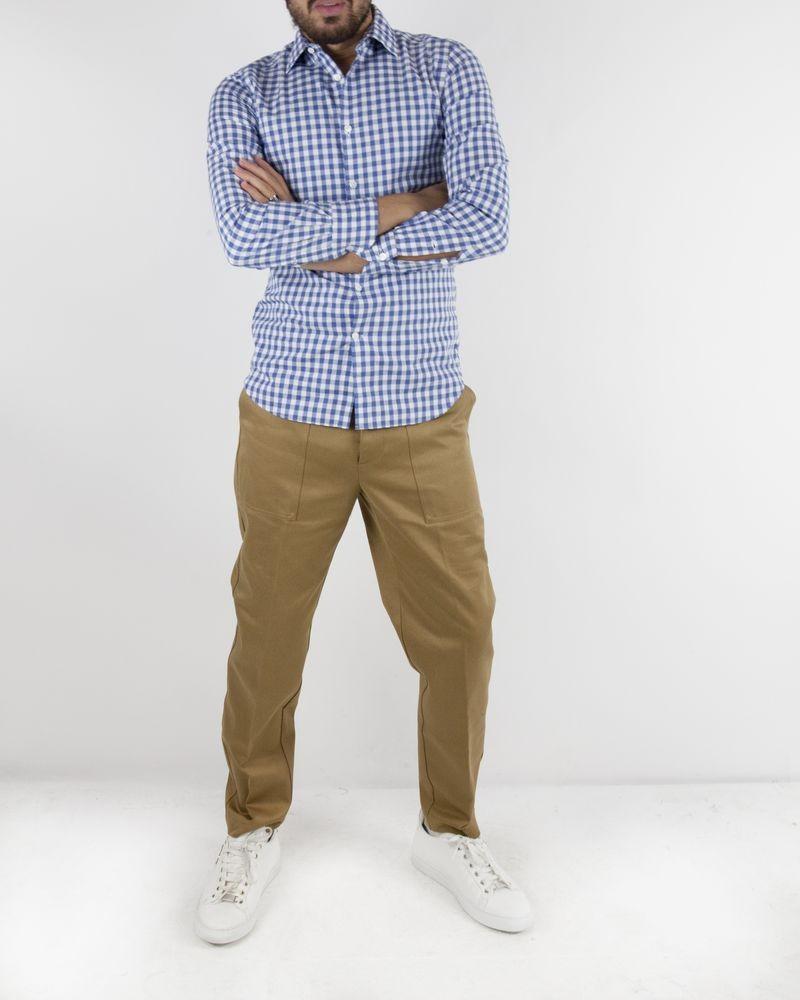 Pantalon carotte beige à poche XL Myths