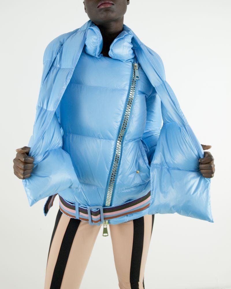 Doudoune bleu à col écharpe amovible Bazar Deluxe