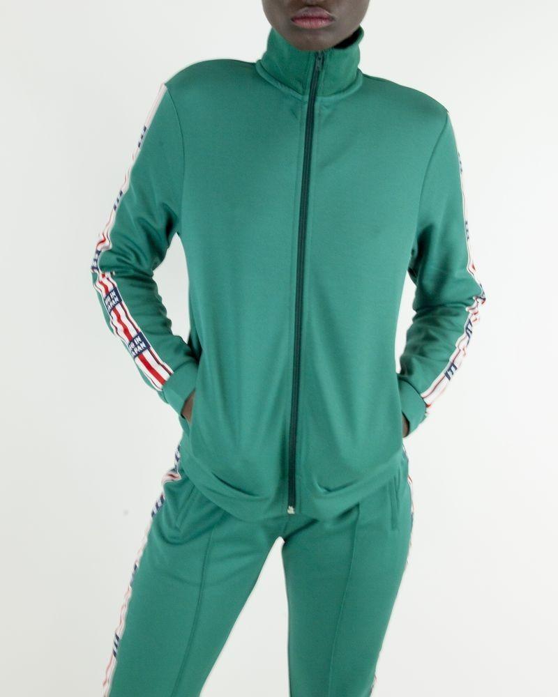 Veste de jogging verte à bandes latérales Zoe Karssen