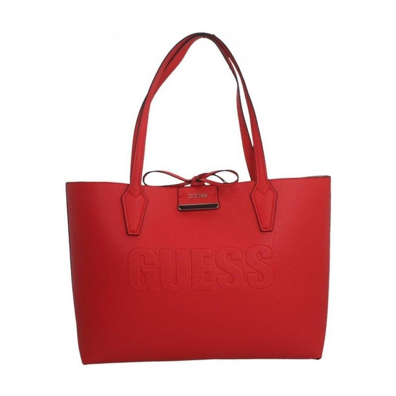 sac pochette guess rouge