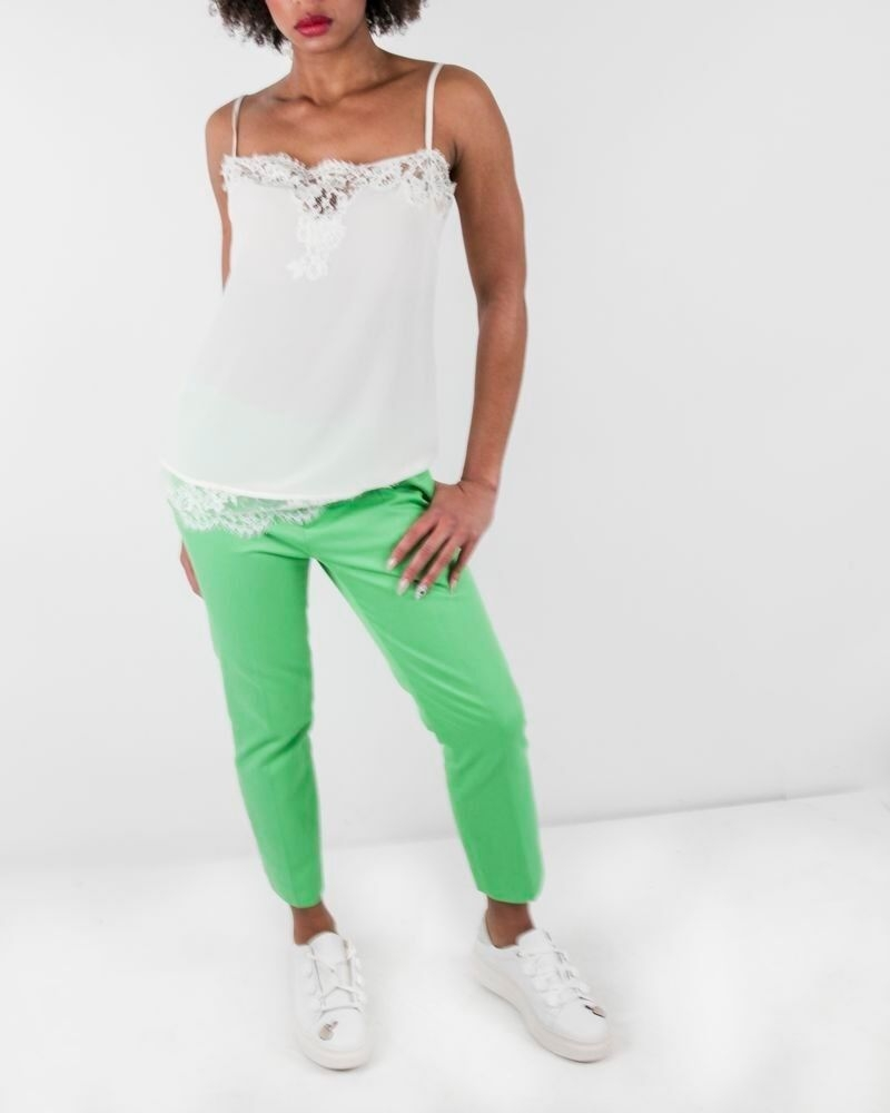 Pantalon skinny en coton vert Dsquard2