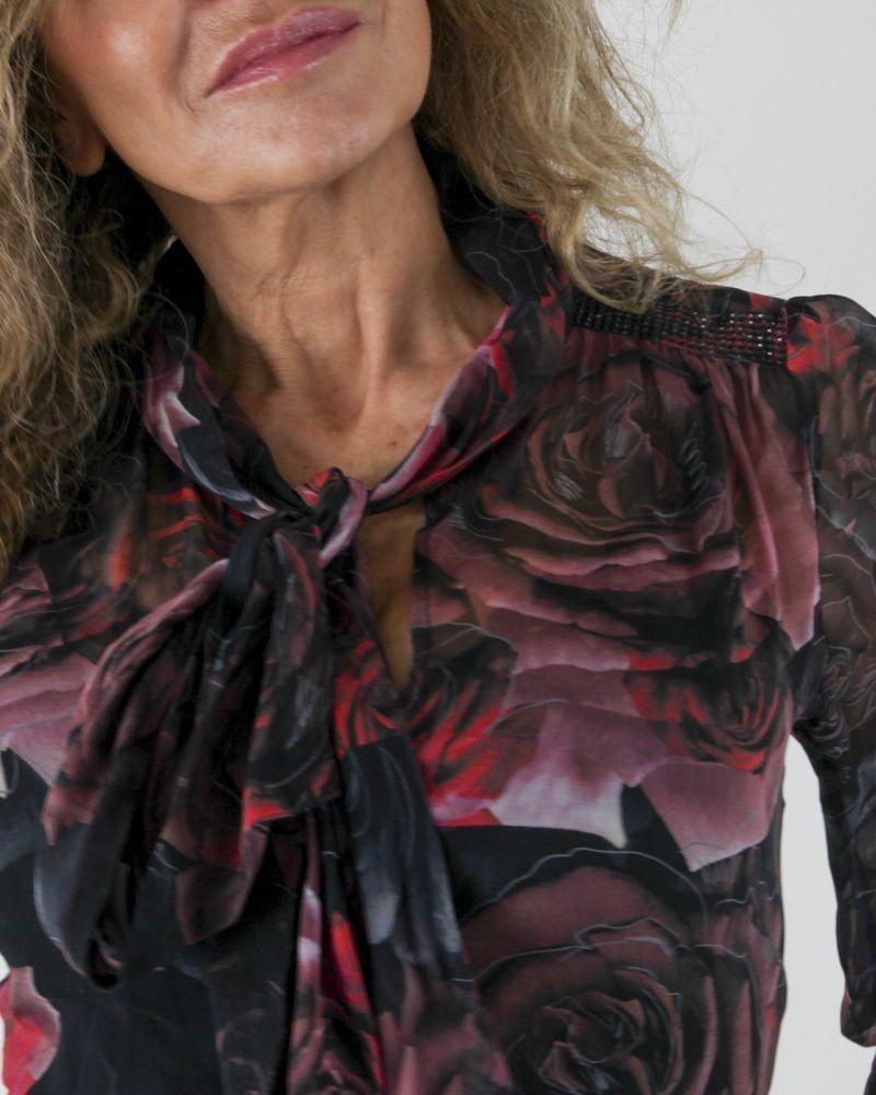 Robe en soie fleurie Maria Grazia Severi