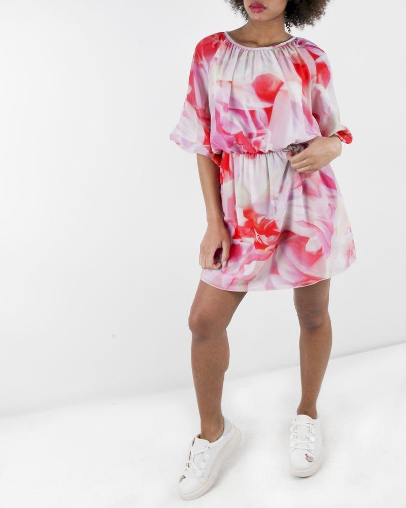 Robe fleurie rose Frankie Morello
