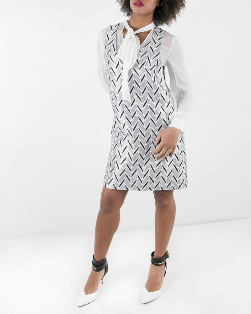 Robe doublée blanche Space New Co