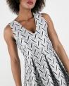 Robe plisée grise Space New Co